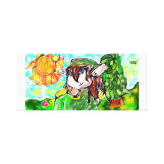 elf with sunny canvas print