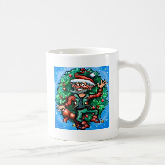 Elf  Wreath Coffee Mug