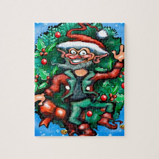 Elf  Wreath Jigsaw Puzzle