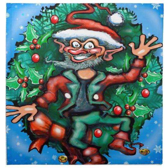 Elf  Wreath Napkin