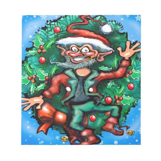 Elf  Wreath Notepad
