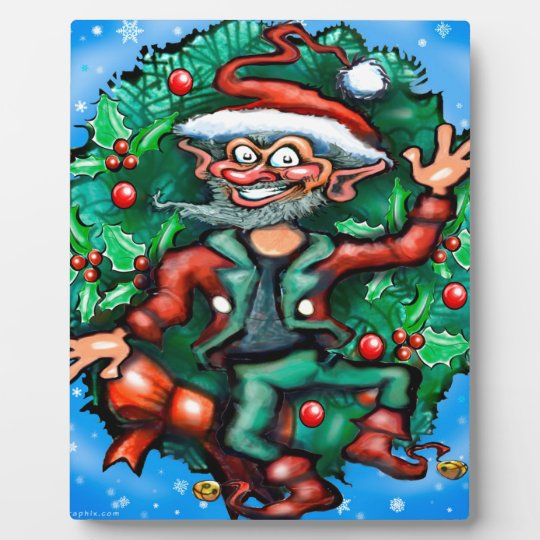 Elf  Wreath Plaque
