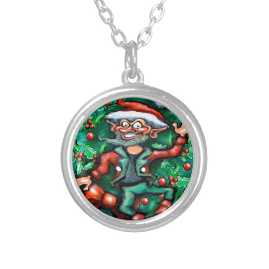 Elf  Wreath Silver Plated Necklace