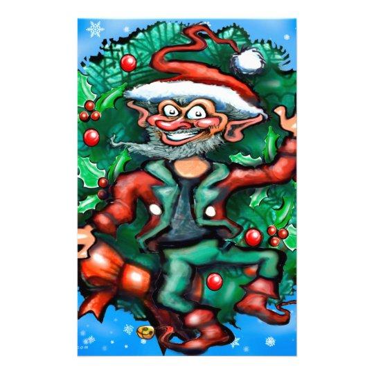 Elf  Wreath Stationery
