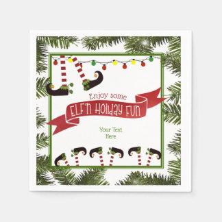 ELF'n Holiday Fun Disposable Serviettes