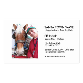 ElfTwink06, SANTA TOWN WAVE, Neighborhood Tour ... Business Card Template