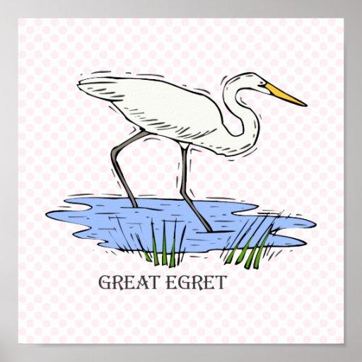 Elgin Egret Posters