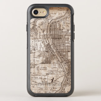 Elgin Illinois 1870 Plat Map Fox River Downtown OtterBox Symmetry iPhone 8/7 Case