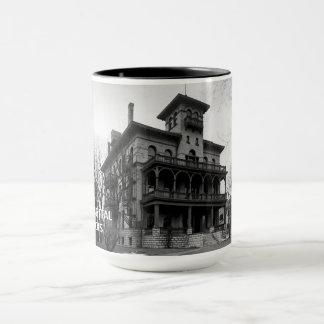 Elgin Illinois 1890's Sherman Hospital Building Mug