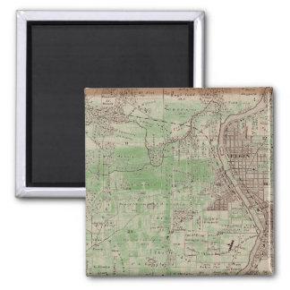 Elgin Illlinois 1870 Plat Map Fox River Downtown Magnet