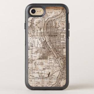 Elgin Illlinois 1870 Plat Map Fox River Downtown OtterBox Symmetry iPhone 8/7 Case
