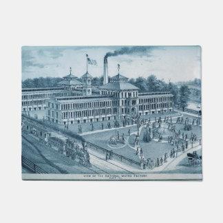 Elgin Watch Factory 1871 Image Elgin Illinois Doormat