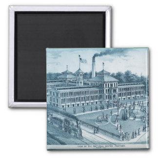Elgin Watch Factory 1871 Image Elgin Illinois Magnet