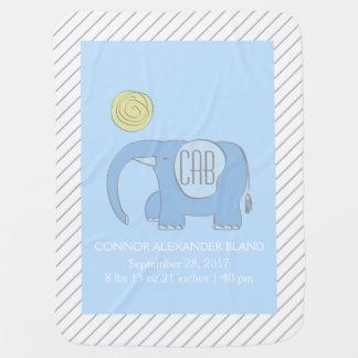 Eli Blue the Elephant Baby Blanket