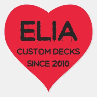 Elia heart logo sticker