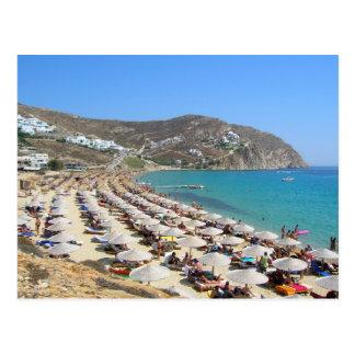 Elias Beach, Mykonos, Greece Postcard