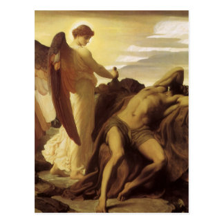 Elijah in Wilderness by Lord Frederic Leighton Postcard