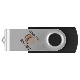 Eliminate racism swivel USB 2.0 flash drive