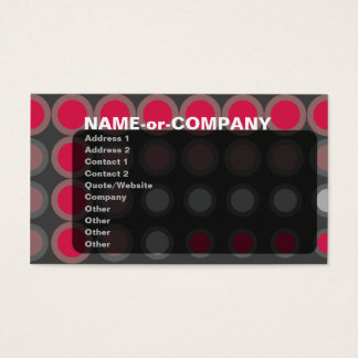 elipses : neon red : business card