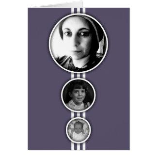 elipses purple memorial cards