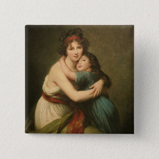 Elisabeth and Her Daughter 15 Cm Square Badge