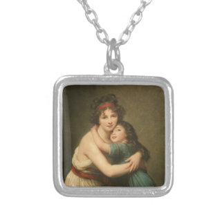 Elisabeth and Her Daughter Silver Plated Necklace