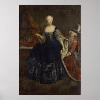 Elisabeth Christine von Braunschweig as Queen Print