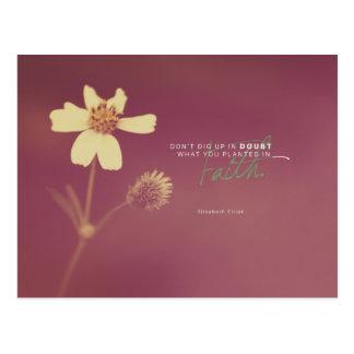 Elisabeth Elliot - Planted in Faith Postcard