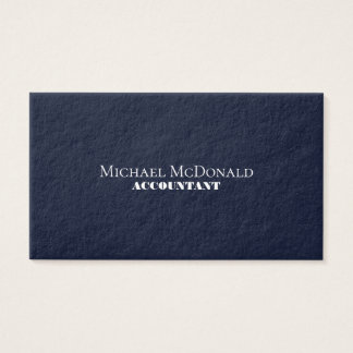 Elite elegance deep blue business card