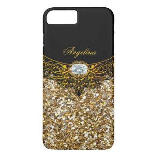 Elite Regal Gold Black Diamond Jewel iPhone 7 Plus Case