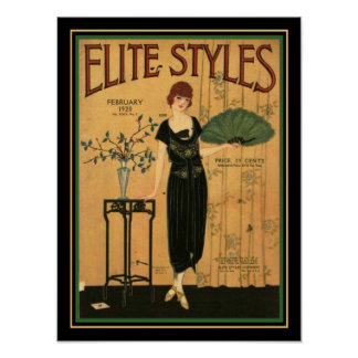 Elite Styles Art Deco 1920 Cover 12 x 16 Poster