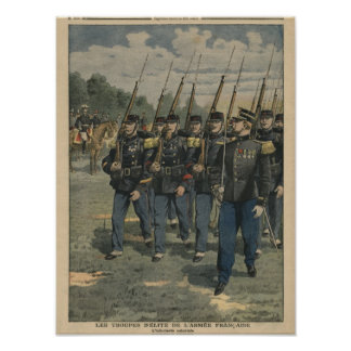 Elite troops of French army Poster