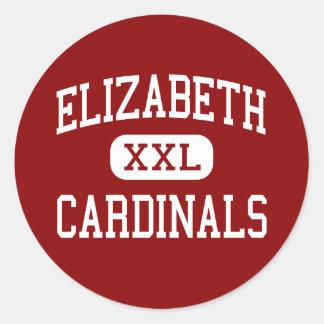 Elizabeth - Cardinals - High - Elizabeth Colorado Classic Round Sticker