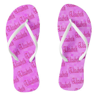 Elizabeth Girls Name Logo, Thongs