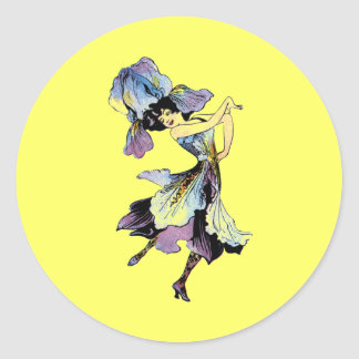Elizabeth Gordon Iris Flower Fairy Classic Round Sticker