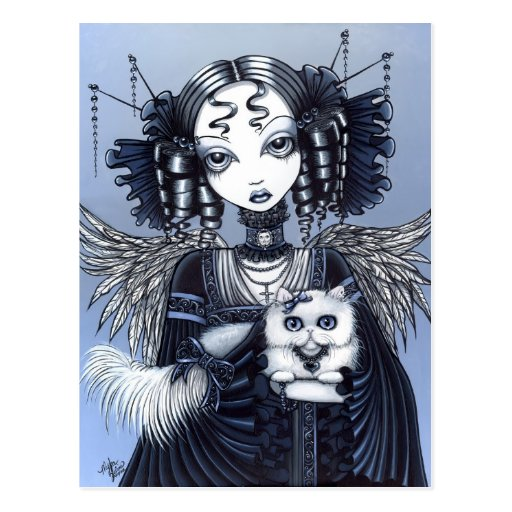 Elizabeth Gothic Victorian Persian Cat Angel Post Cards