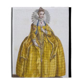 Elizabeth I (1530-1603) (coloured engraving) iPad Case