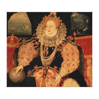 Elizabeth I, Armada portrait, c.1588 Canvas Prints