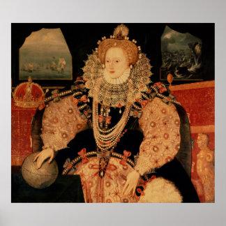 Elizabeth I, Armada portrait, c.1588 Poster