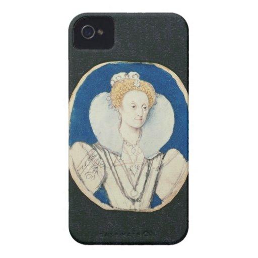 Elizabeth I, miniature portrait, (unfinished) iPhone 4 Case-Mate Case