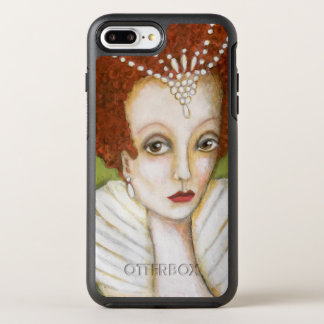 Elizabeth I Painting Red Hair Pearls High Collar OtterBox Symmetry iPhone 8 Plus/7 Plus Case