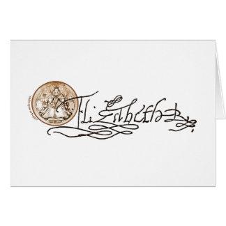 Elizabeth I Signature (Version 2) Cards