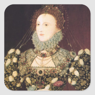 "Elizabeth I, the ""Phoenix"" Square Sticker"