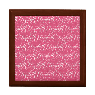 Elizabeth - Modern Calligraphy Name Design Large Square Gift Box