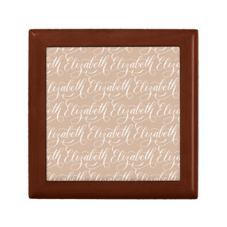 Elizabeth - Modern Calligraphy Name Design Small Square Gift Box