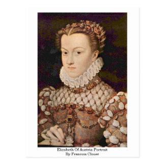 Elizabeth Of Austria-Portrait By Francois Clouet Postcard