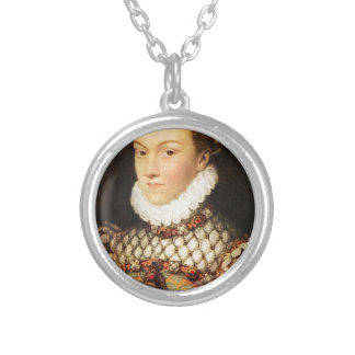 Elizabeth of Austria, Queen of France Silver Plated Necklace