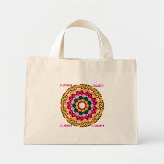 ELIZABETH ~ Personalized Gem Stone Fractal ~ Mini Tote Bag