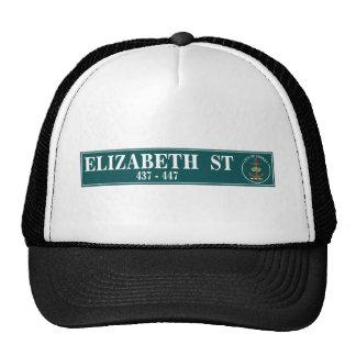 Elizabeth Street, Sidney, Australian Street Sign Hat