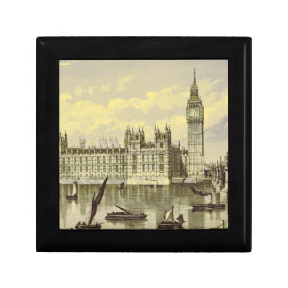 Elizabeth Tower Big Ben Thames London Vintage Gift Box